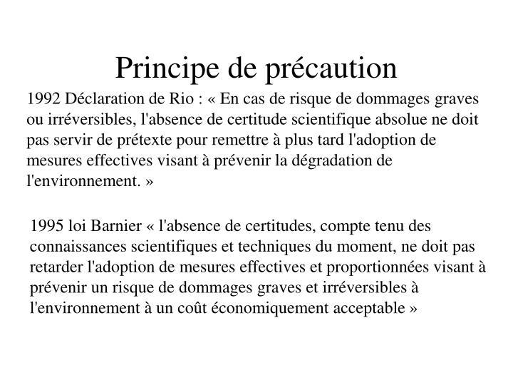 Principe de précaution