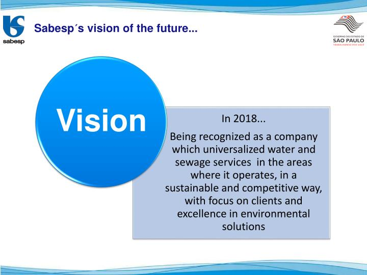 Sabesp´s vision of the future...