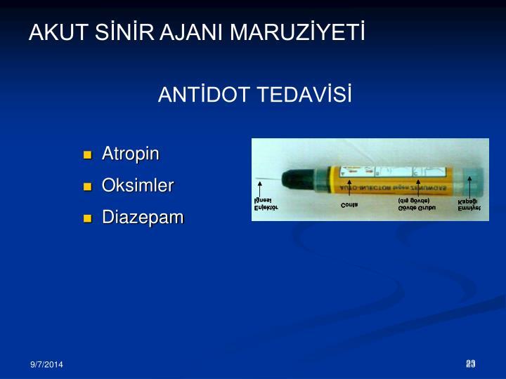 ANTİDOT TEDAVİSİ