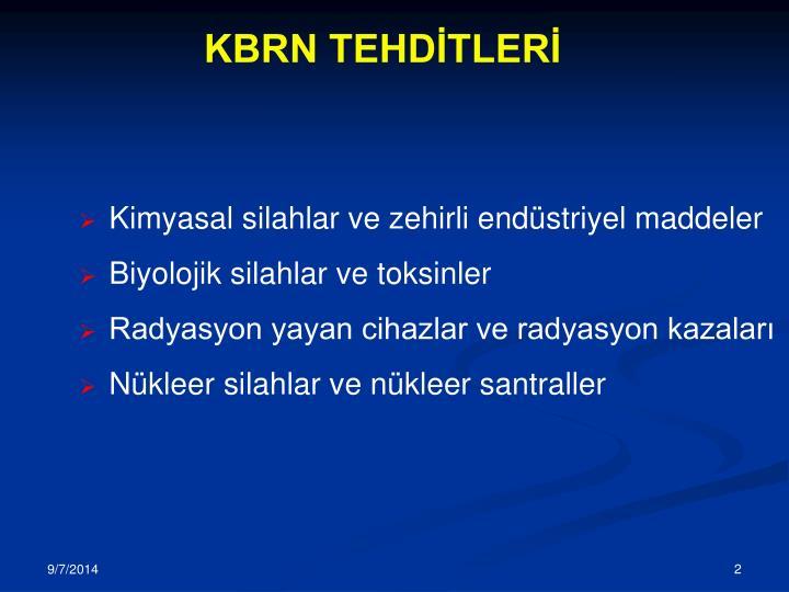 KBRN TEHDİTLERİ