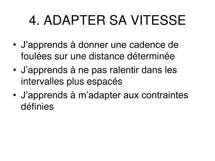 4. ADAPTER SA VITESSE