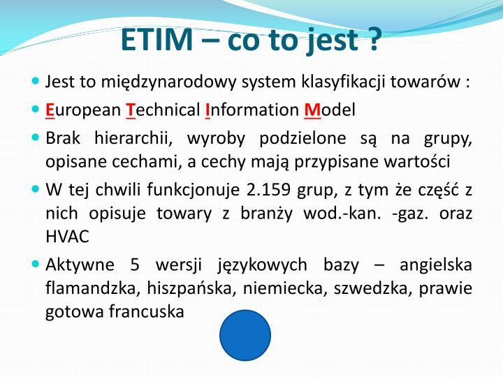 ETIM – co to jest ?