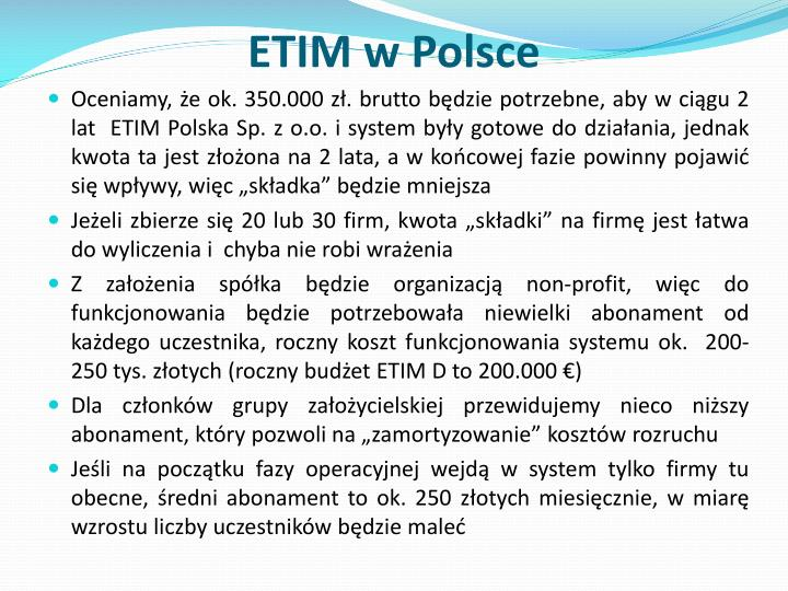 ETIM w Polsce