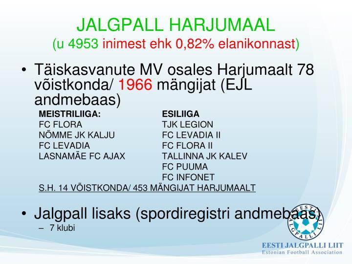 JALGPALL HARJUMAAL
