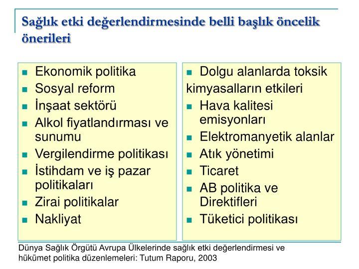 Ekonomik politika