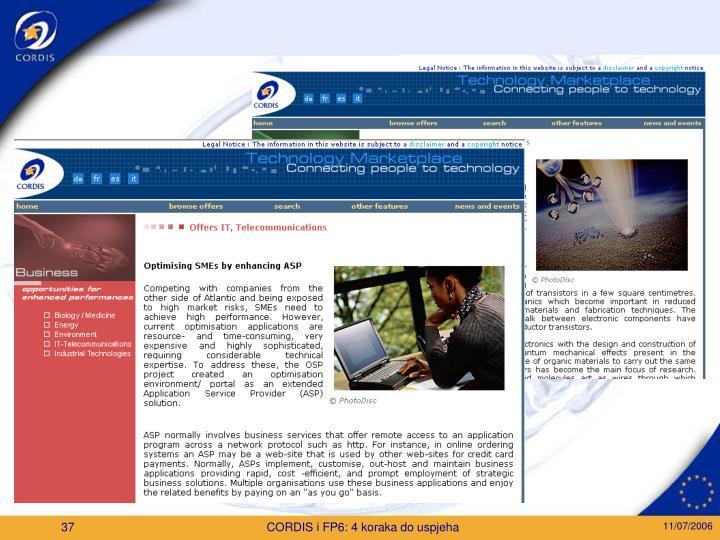 CORDIS i FP6: 4 koraka do uspjeha