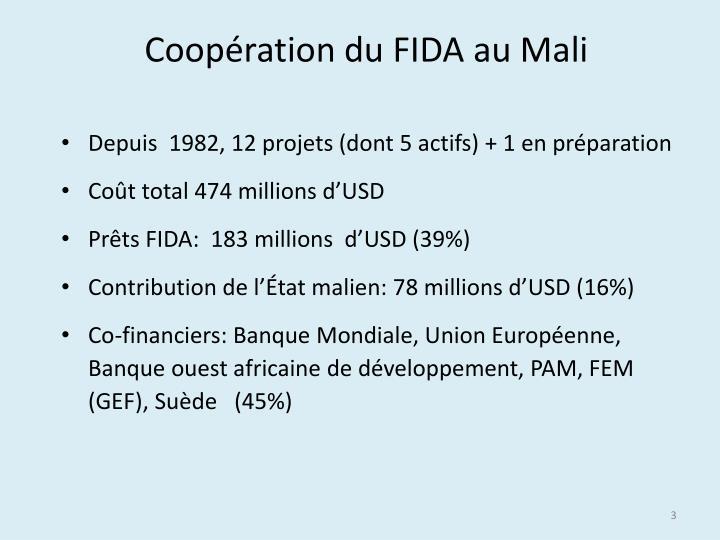 Coopération du FIDA au Mali