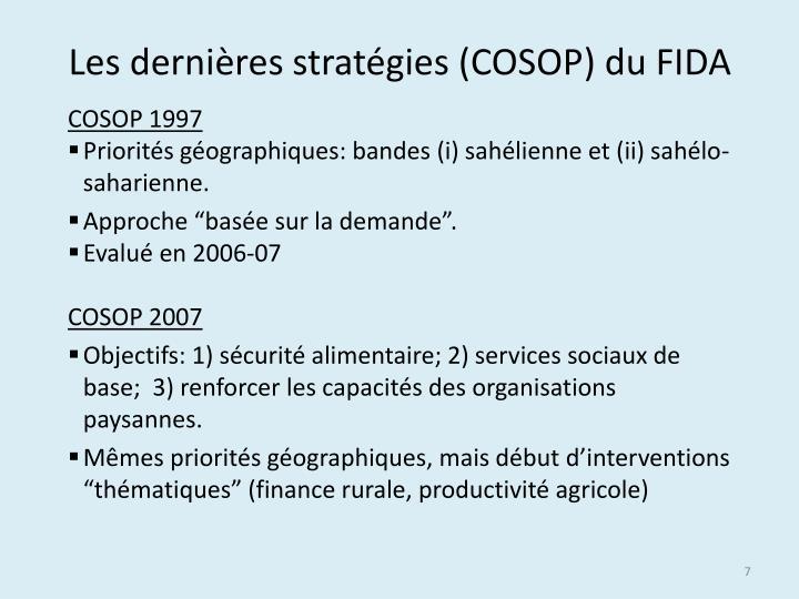 Les dernières stratégies (COSOP) du FIDA