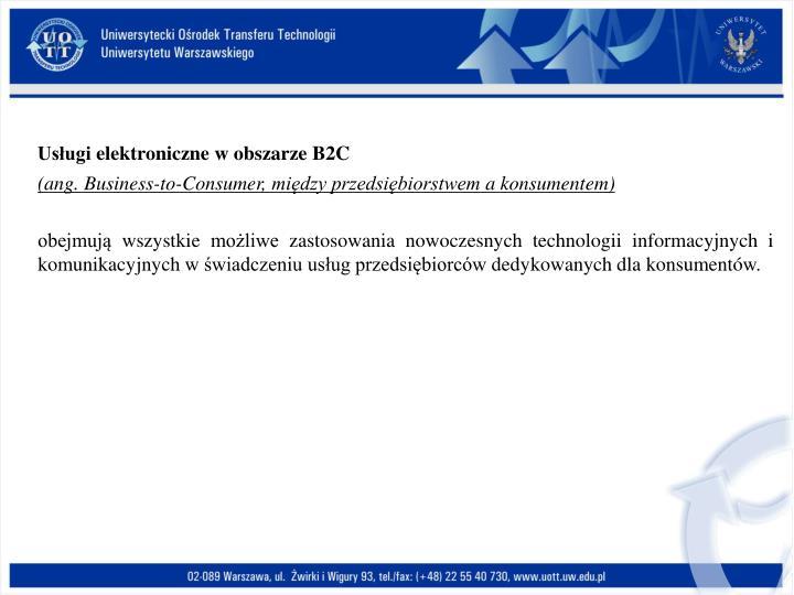 Usługi elektroniczne w obszarze B2C
