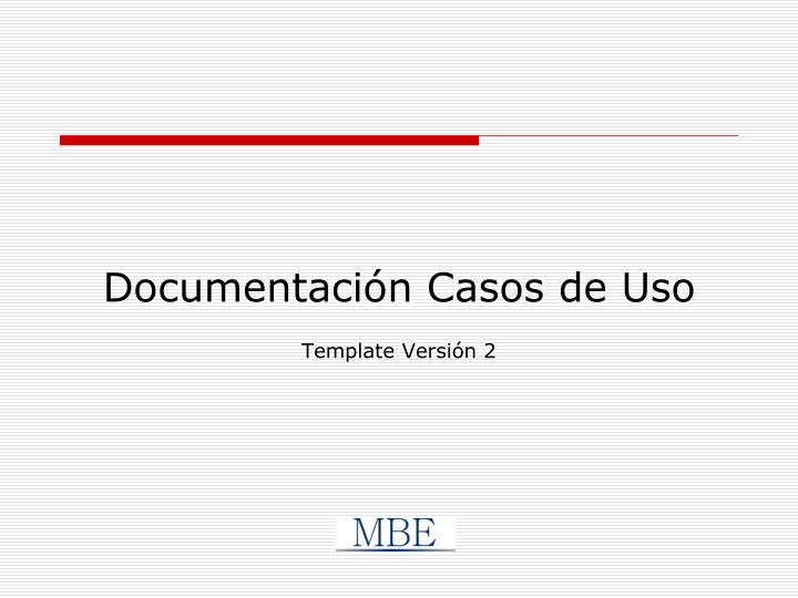 Documentación Casos de Uso