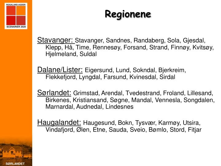 Regionene
