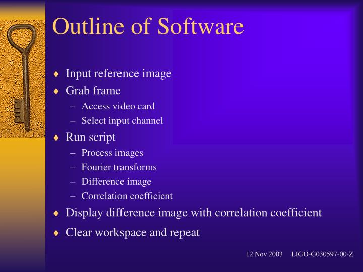 Outline of Software