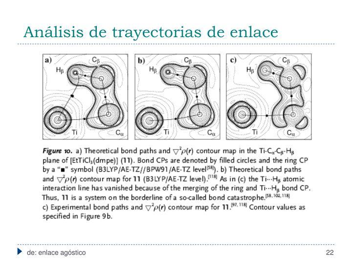 Análisis de trayectorias de enlace