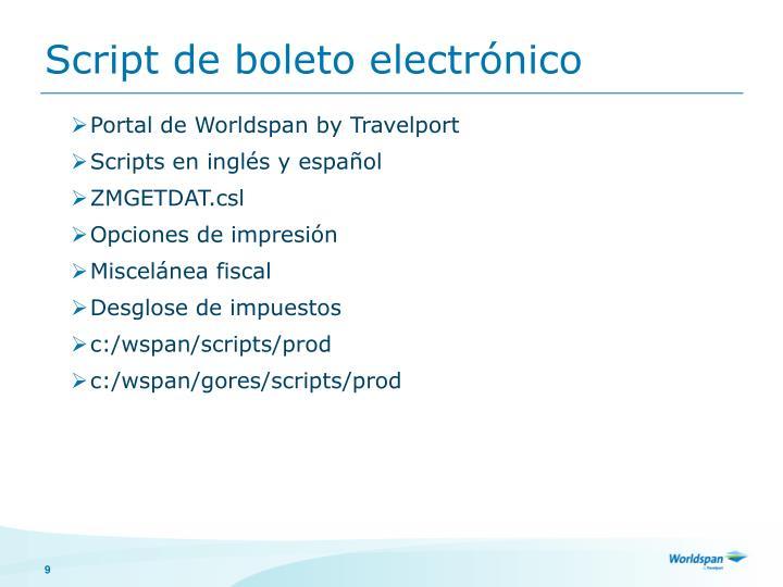 Script de boleto electrónico