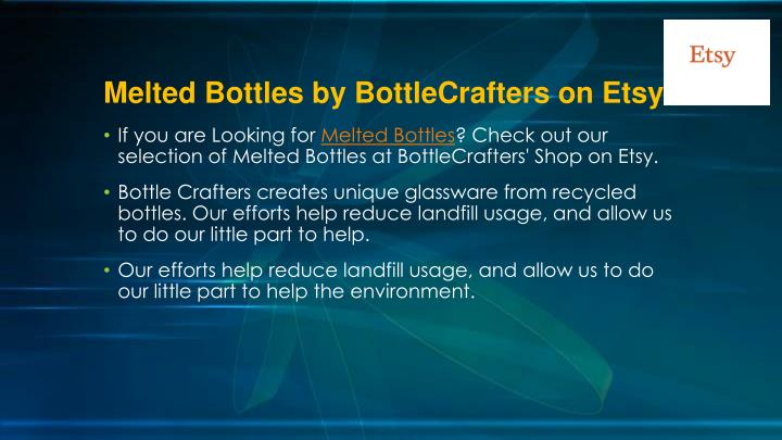 Melted bottles by bottlecrafters on etsy1