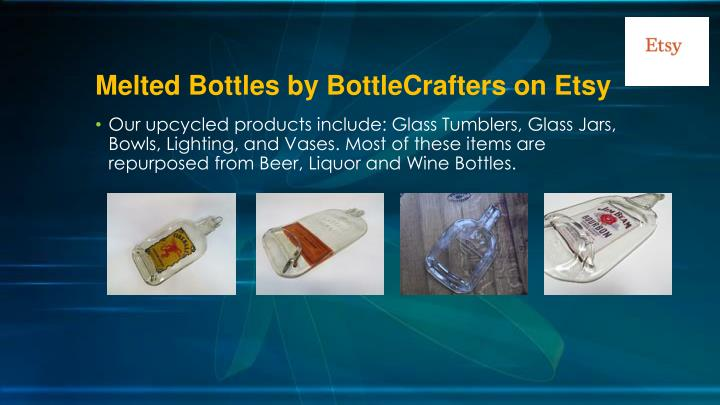 Melted bottles by bottlecrafters on etsy2