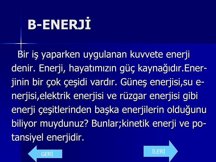 B-ENERJİ