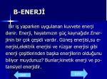 b enerj