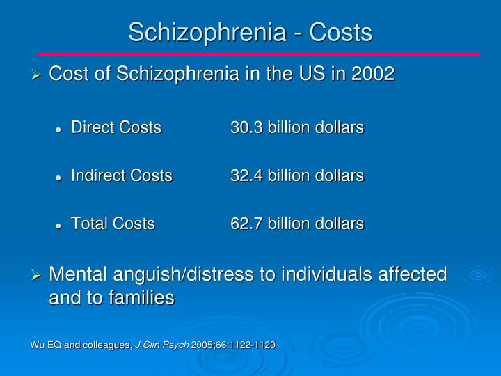 Schizophrenia - Costs