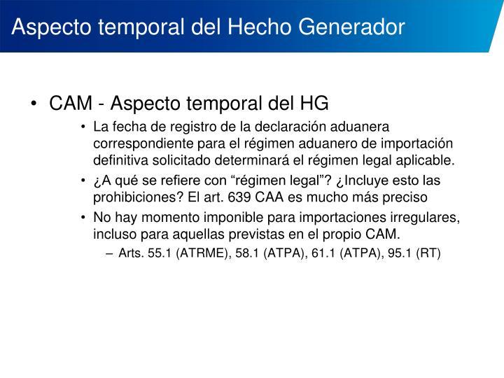 Aspecto temporal del Hecho Generador