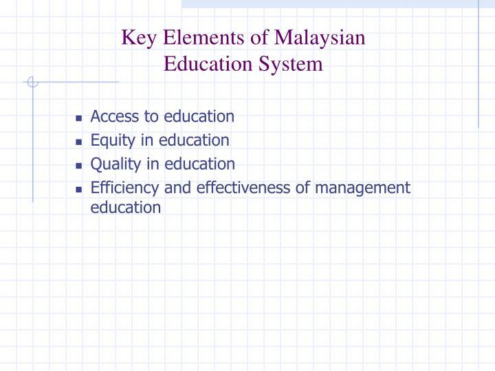 Key Elements of Malaysian