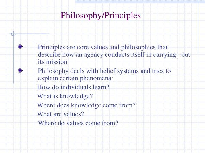 Philosophy/Principles