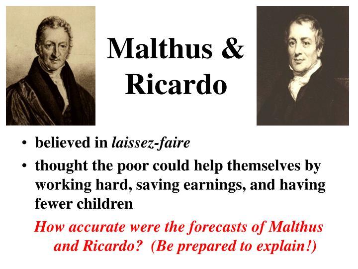 Malthus &