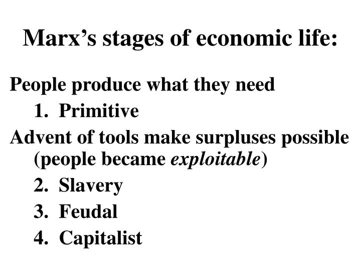 Marx's stages of economic life: