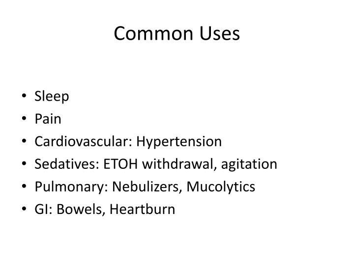 Common uses