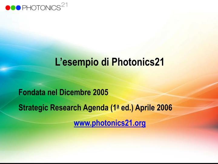 L'esempio di Photonics21