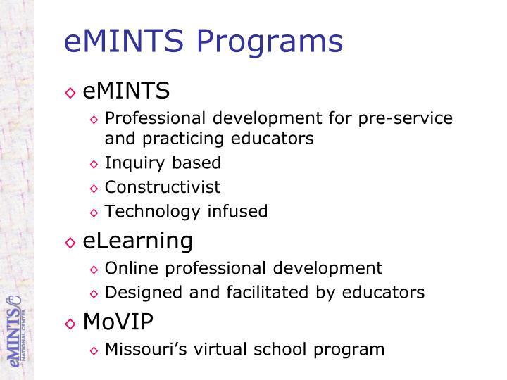 eMINTS Programs