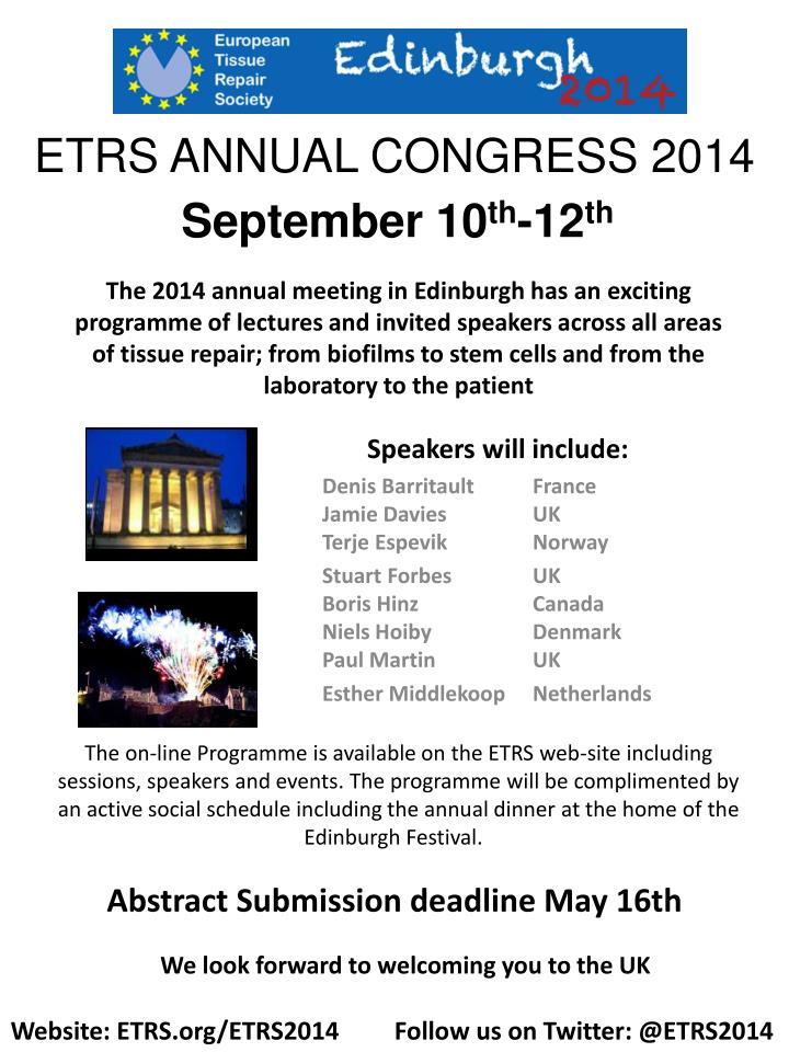 Etrs annual congress 2014