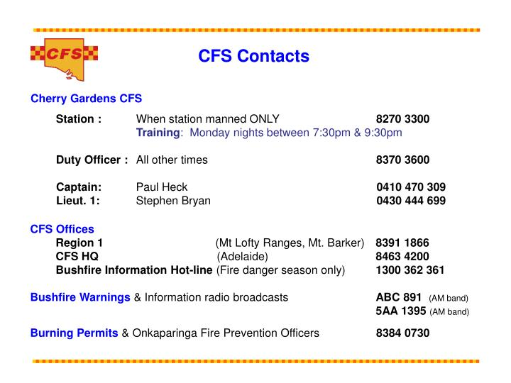 CFS Contacts