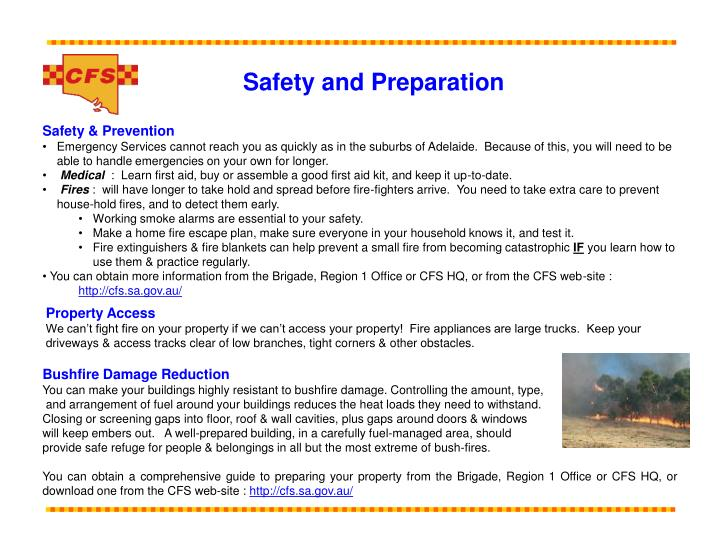 Safety and Preparation