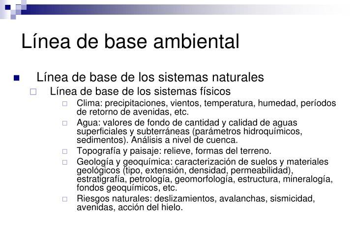 Línea de base ambiental