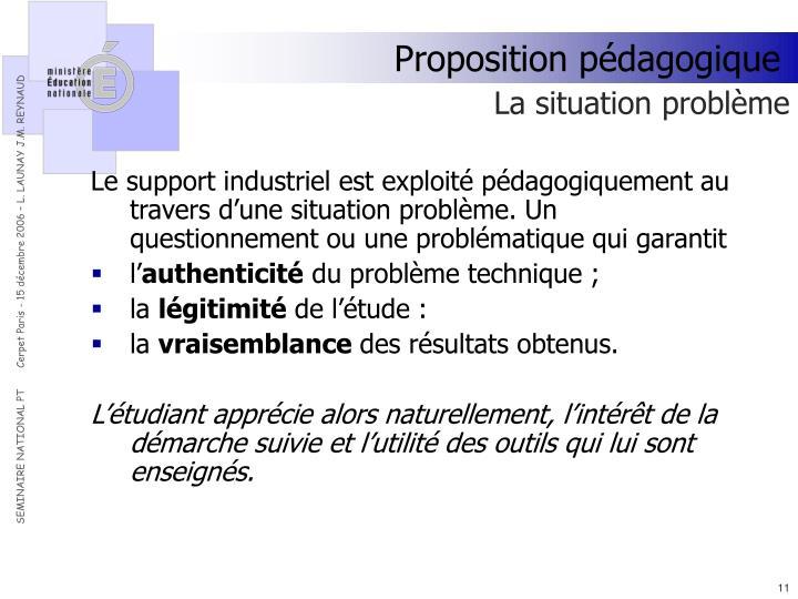 Proposition pédagogique