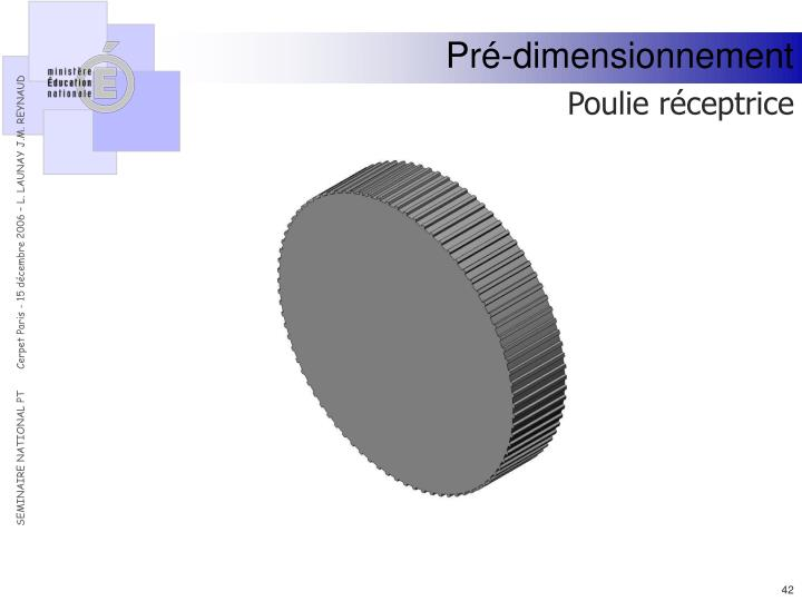 Pré-dimensionnement