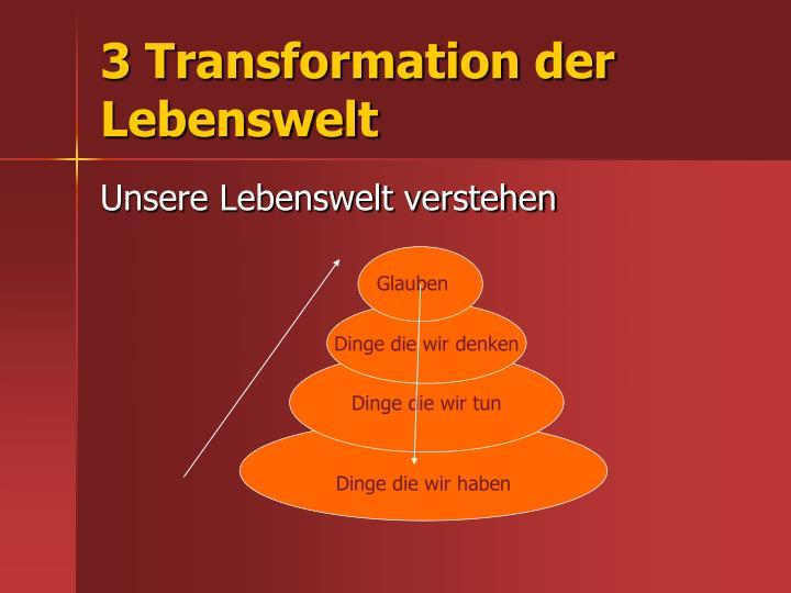 3 Transformation der Lebenswelt
