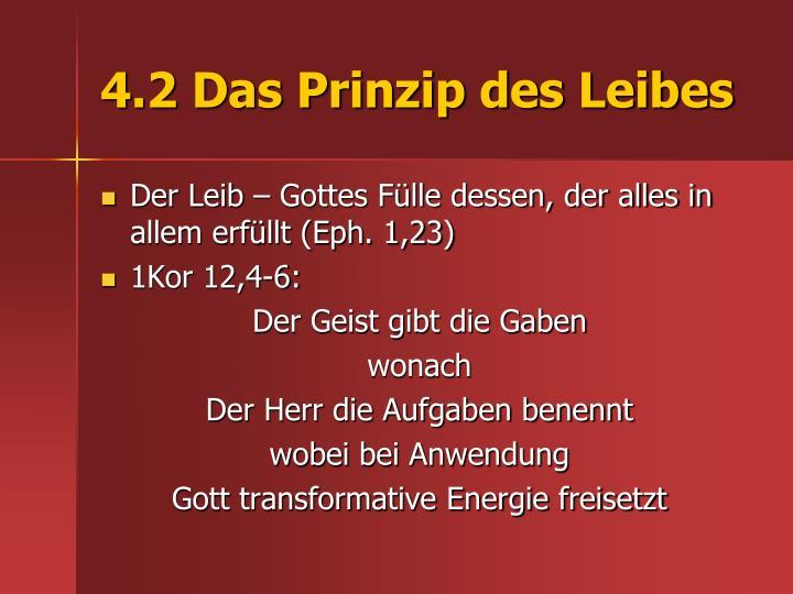 4.2 Das Prinzip des Leibes
