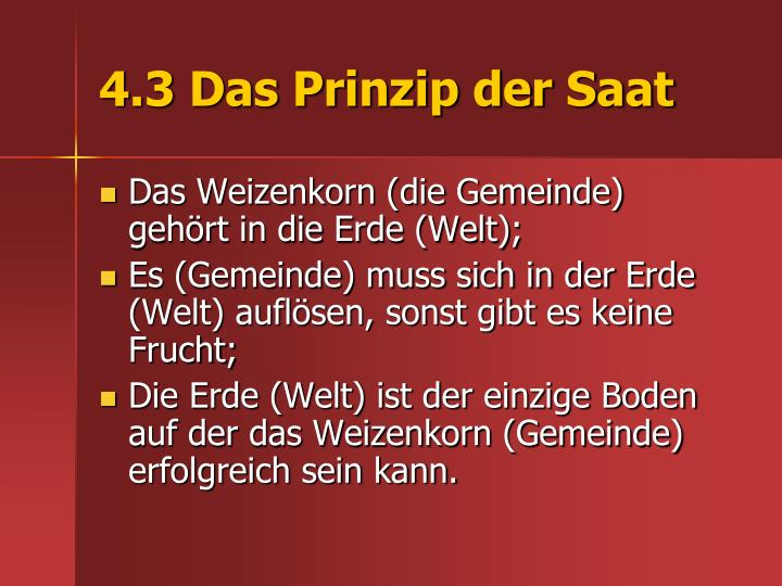 4.3 Das Prinzip der Saat