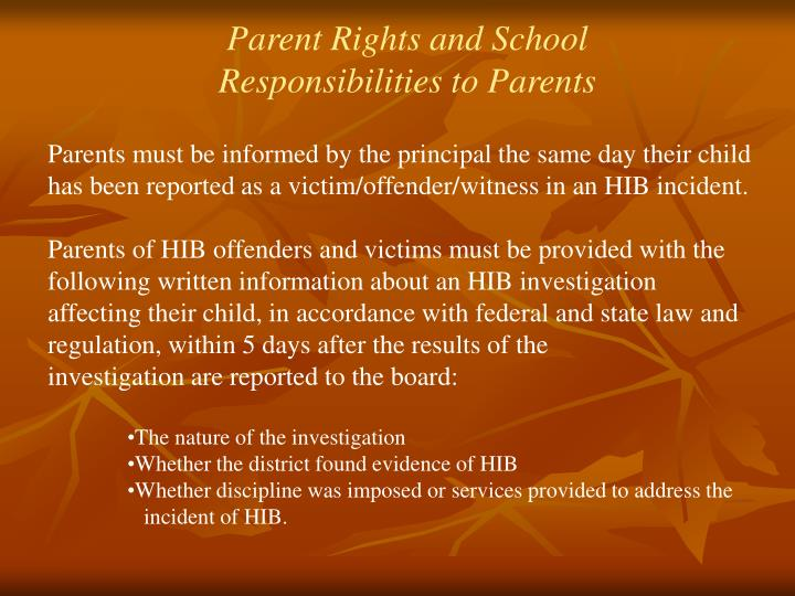 Parent Rights and School