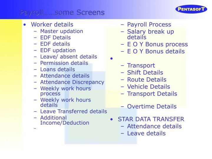 Worker details