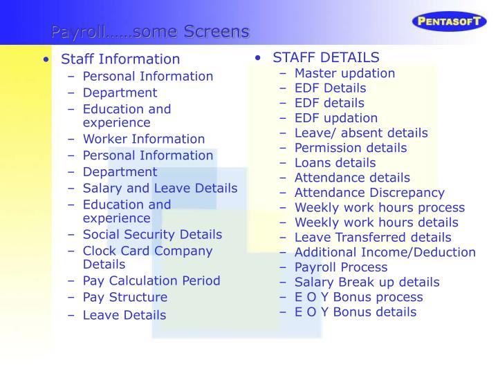 Staff Information