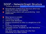 sdgp network graph structure