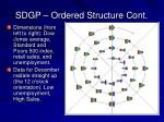 sdgp ordered structure cont1