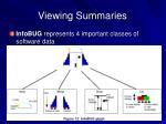 viewing summaries