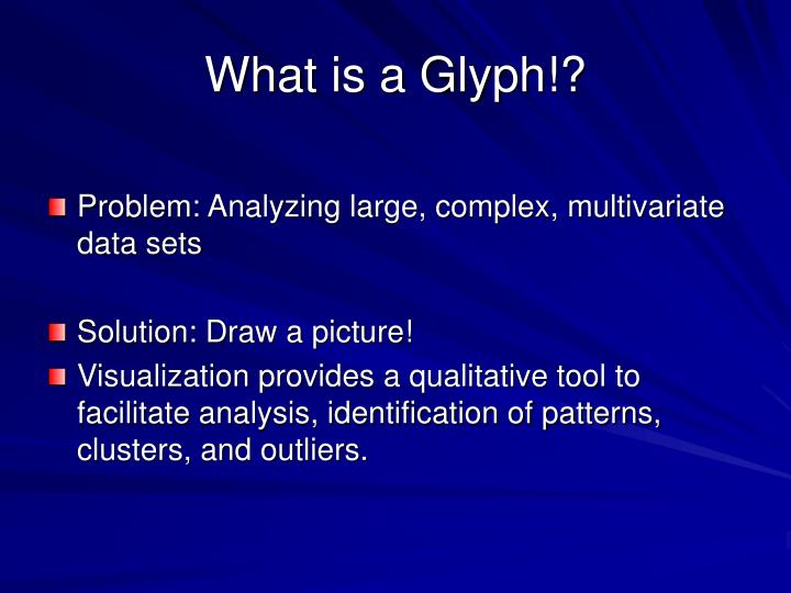 What is a Glyph!?