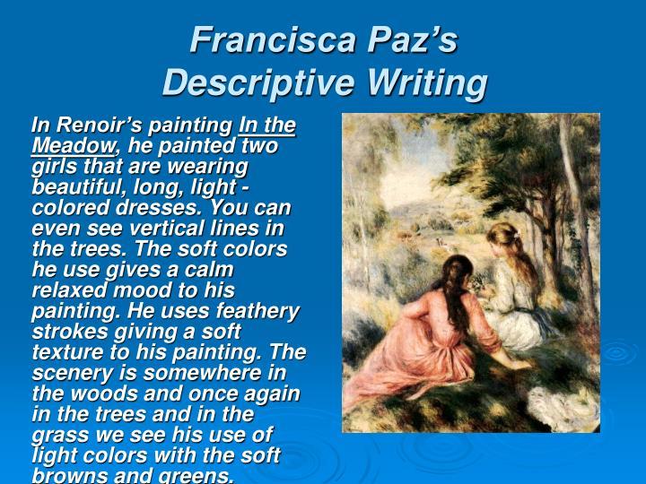 Francisca Paz's