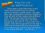 king tut s life by martin bulik