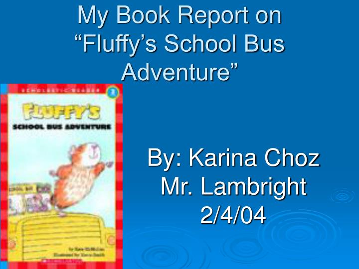 My Book Report on